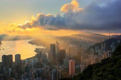 Downtown in Hong-kong Stock Image