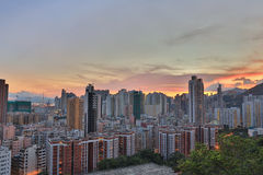 Downtown of Hong Kong, high density, poor area. Stock Photography