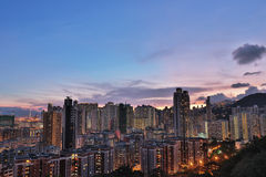 Downtown of Hong Kong, high density, poor area. Stock Images