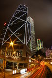 Downtown Hong Kong at night Stock Image