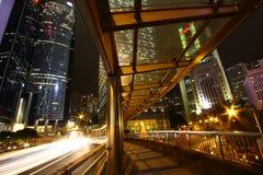 Downtown Hong Kong at night Royalty Free Stock Photo