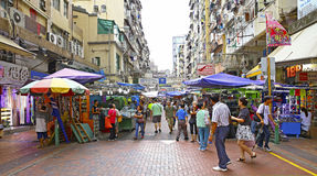Downtown hong kong : pei ho street market, sham shui po Royalty Free Stock Images