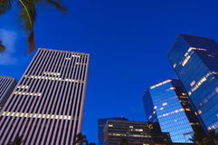 Downtown Honolulu. High rise buildings in Downtown Honolulu during twilight Royalty Free Stock Photo