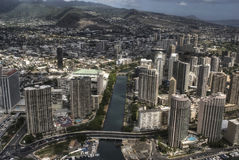 Downtown Honolulu, Hawaii. Ariel shot of Downtown Honolulu Royalty Free Stock Photo