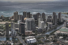Downtown Honolulu, Hawaii. Ariel shot of Downtown Honolulu Stock Photos