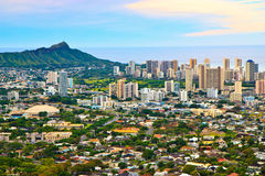 Downtown Honolulu, Oahu Hawaii Royalty Free Stock Images