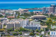 Downtown Honolulu. Over looking the City of Honolulu, Hawaii Royalty Free Stock Photo