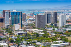 Downtown Honolulu Royalty Free Stock Photography