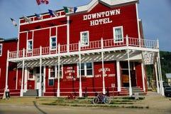 The Downtown Hotel in Dawson City, Yukon. Dawson City, Yukon is the heart of the world-famous Klondike Gold Rush royalty free stock photos