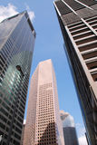 Downtown Houston. Skyscrapers and reflections against a blue sky Royalty Free Stock Images