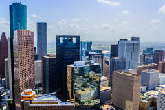 Downtown Houston buildings Stock Photography