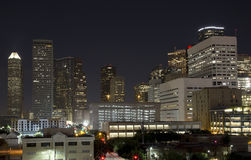 Downtown of Houston night Stock Images