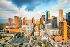 Downtown Houston skyline Stock Image
