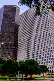 Downtown Houston streetscape. Downtown Houston buildings and streetscape Royalty Free Stock Images