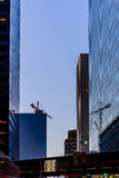 Downtown Houston streetscape. Downtown Houston buildings and streetscape Stock Image