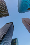 Downtown Houston streetscape. Downtown Houston buildings and streetscape Royalty Free Stock Photos