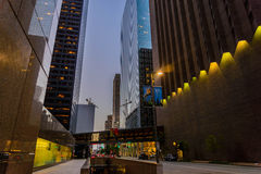 Downtown Houston streetscape. Downtown Houston buildings and streetscape Royalty Free Stock Photography