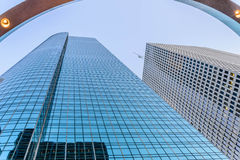 Downtown Houston streetscape. Downtown Houston buildings and streetscape Stock Photography