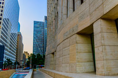 Downtown Houston streetscape Royalty Free Stock Photo