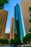 Downtown Houston streetscape Royalty Free Stock Photos