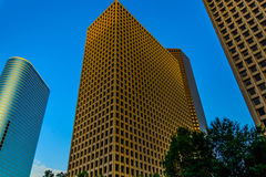 Downtown Houston streetscape Royalty Free Stock Image