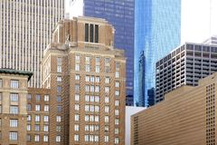 Downtown Houston Texas city buildings Stock Photos