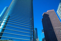 Downtown Houston in Texas mirror skyscrapers Stock Images