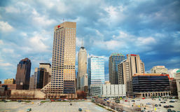 Downtown of Indianapolis royalty free stock photography