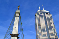 Downtown Indianapolis Buildings. Buildings in downtown Indianapolis, Indiana stock photography
