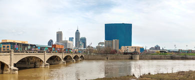 Downtown of Indianapolis. On an overcast day royalty free stock photography