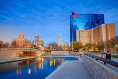 Downtown Indianapolis skyline Stock Photography