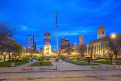 Downtown Indianapolis skyline Royalty Free Stock Images