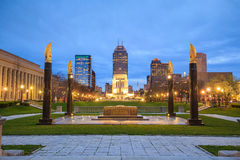 Downtown Indianapolis skyline Royalty Free Stock Photos