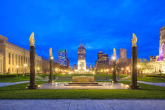 Downtown Indianapolis skyline Stock Photos