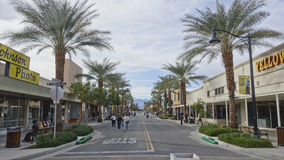 Downtown Indio, California Stock Images