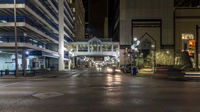 Downtown intersection timelapse, Calgary, Alberta stock video