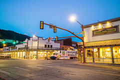 Downtown Jackson Hole in Wyoming USA. JACKSON HOLE, WYOMING - SEPTEMBER 28: Downtown Jackson Hole in Wyoming USA on September 28, 2015 It was named after David Royalty Free Stock Photo