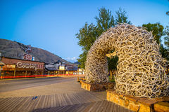 Downtown Jackson Hole in Wyoming USA Royalty Free Stock Photography