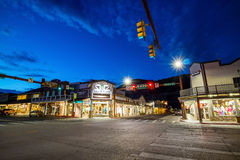 Downtown Jackson Hole in Wyoming USA. JACKSON HOLE, WYOMING - SEPTEMBER 28: Downtown Jackson Hole in Wyoming USA on September 28, 2015 It was named after David Royalty Free Stock Image