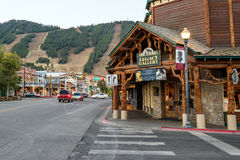 Downtown Jackson Hole in Wyoming USA Stock Images