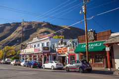 Downtown Jackson Hole in Wyoming USA Stock Photography