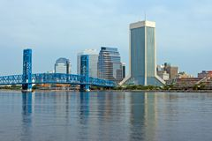 Downtown Jacksonville. Florida from across the St. Johns River Royalty Free Stock Images