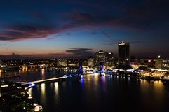 Downtown Jacksonville royalty free stock image
