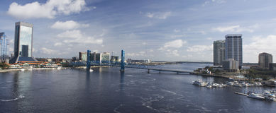Downtown jax st johns pano Stock Photos