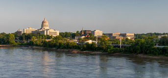Downtown Jefferson City. From across the Missouri River in Jefferson City, Missouri Royalty Free Stock Images