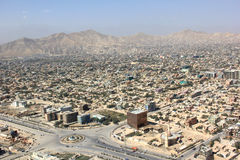 Downtown Kabul. An aerial view of downtown Kabul, AF Stock Photography