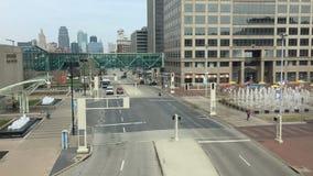 Downtown Kansas City Hallmark Plaza Timelapse stock video