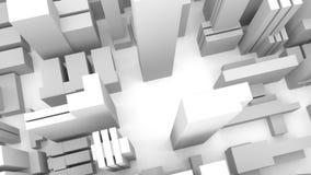 downtown Karte der Stadt nearsighted Fliegen ?ber die Stadt vektor abbildung