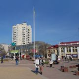 Downtown of Khmelnytsky, Ukraine Royalty Free Stock Photo