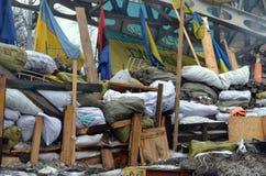 Downtown of Kiev. Begining of civil war Royalty Free Stock Photo